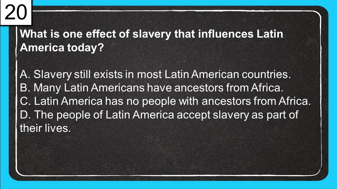 the effects of slavery in america In some ways enslaved african american families very much resembled other  families who lived in other times and  the effect of slavery on his own family.