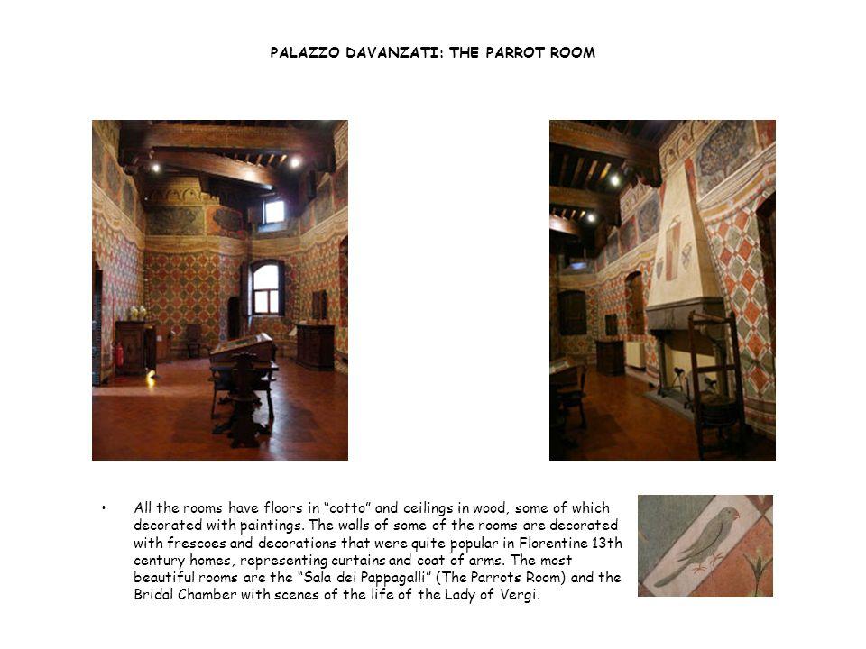PALAZZO DAVANZATI: THE PARROT ROOM