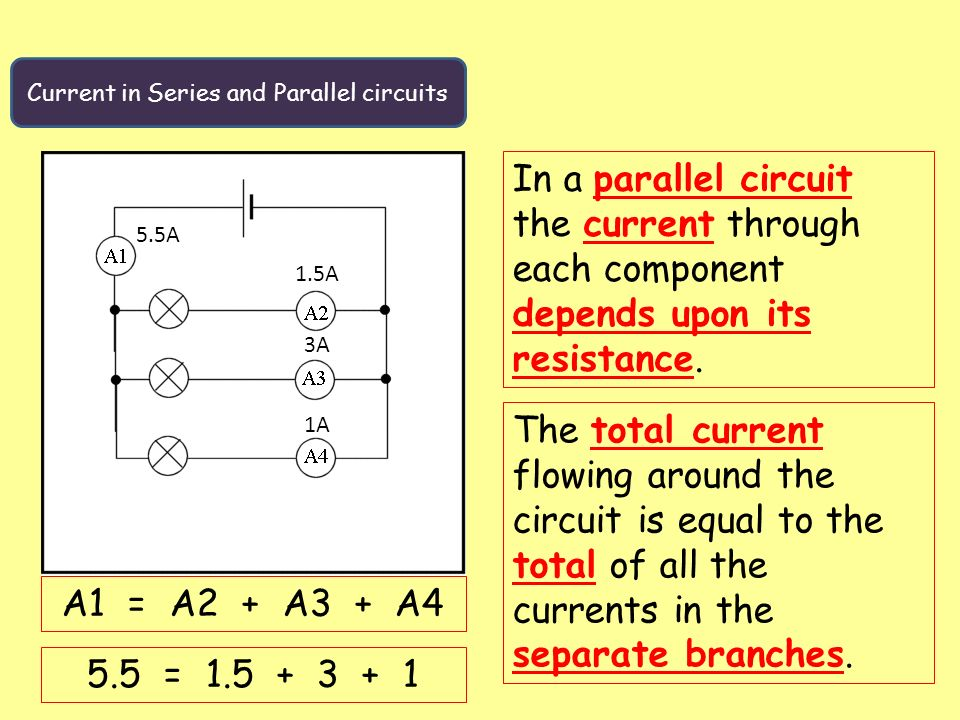voltage and current in series and