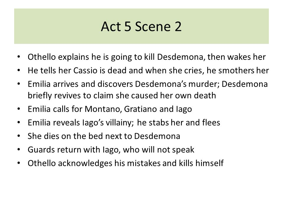 othello act 5 quotes