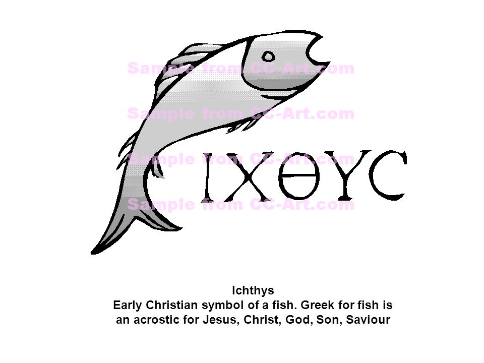 Ichthys Early Christian symbol of a fish.
