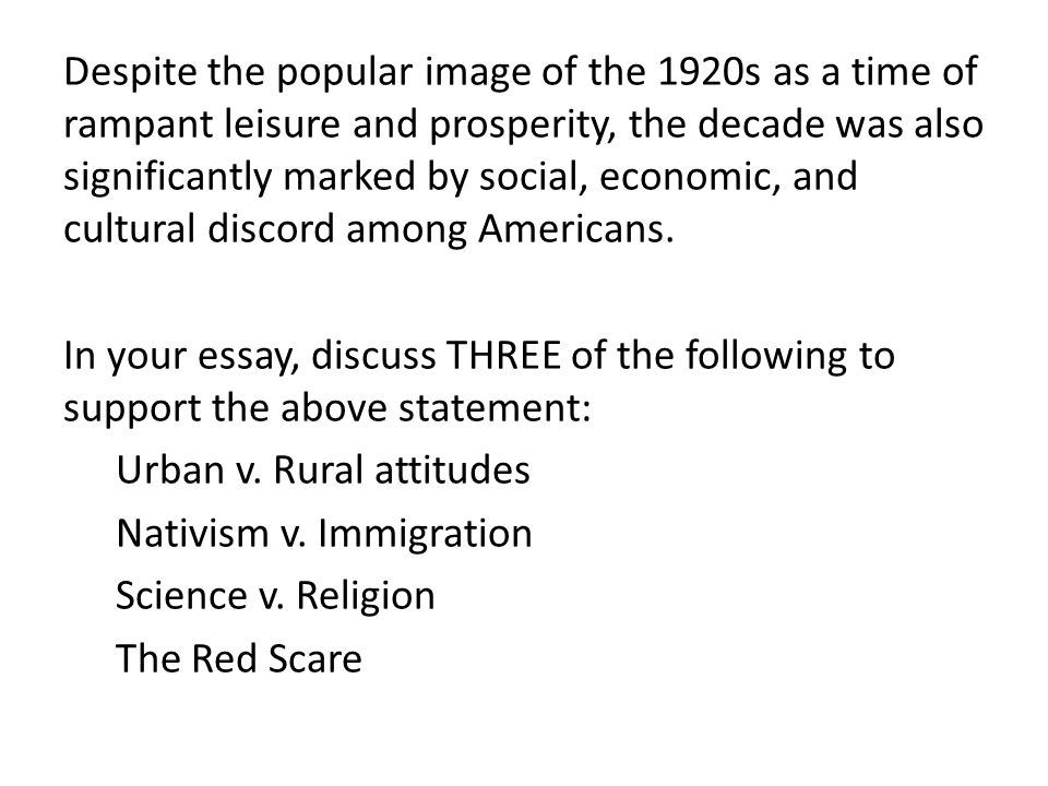Why did the American Economy Boom in the 1920's - Assignment Example