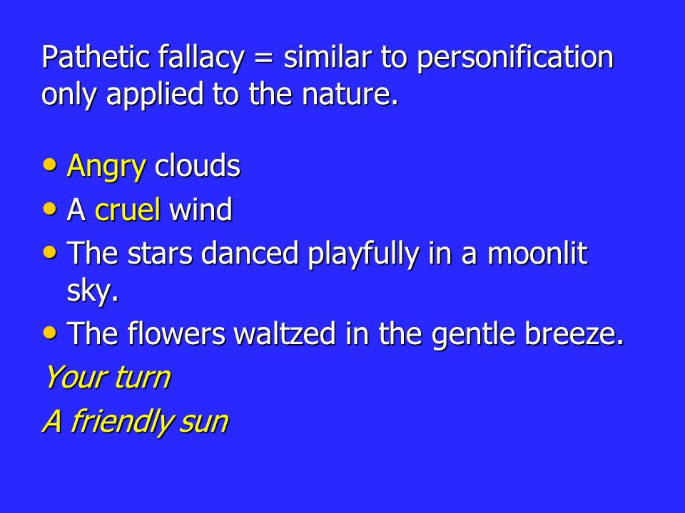 pathetic fallacy definition