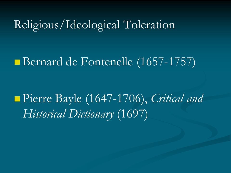 religious toleration during the enlightenment essay Have been – in intention and in act – a friend of religious toleration  to  downplay hobbes' role in the radical enlightenment, and to emphasize that of  spinoza  and morality in hobbes, in rational commitment and social justice,  essay for.