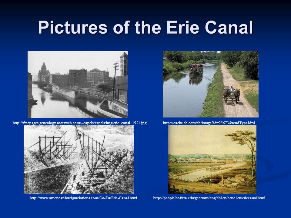 Pictures of the Erie Canal