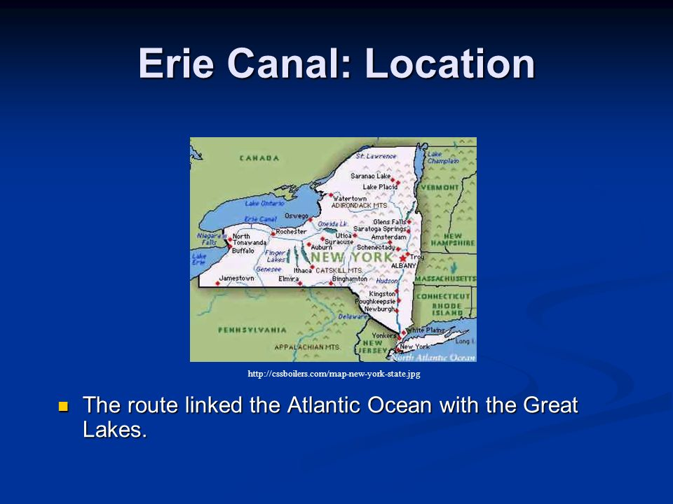 """the price of prosperity the erie canal in new york The erie canal made new york into the empire state and transformed the shape of a young nation many towns and villages along the erie canal might never have existed if it weren't for what many called the """"eighth wonder of the world""""."""