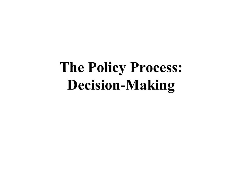 the policy making process lindblom