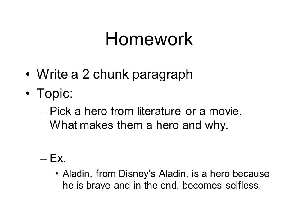 Chunk essay writing