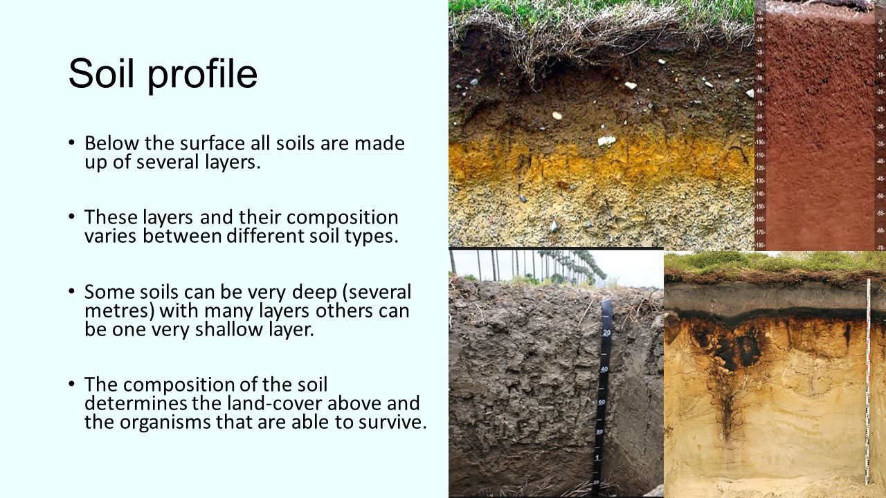 What is soil soil is a combination of four main for Soil profile video