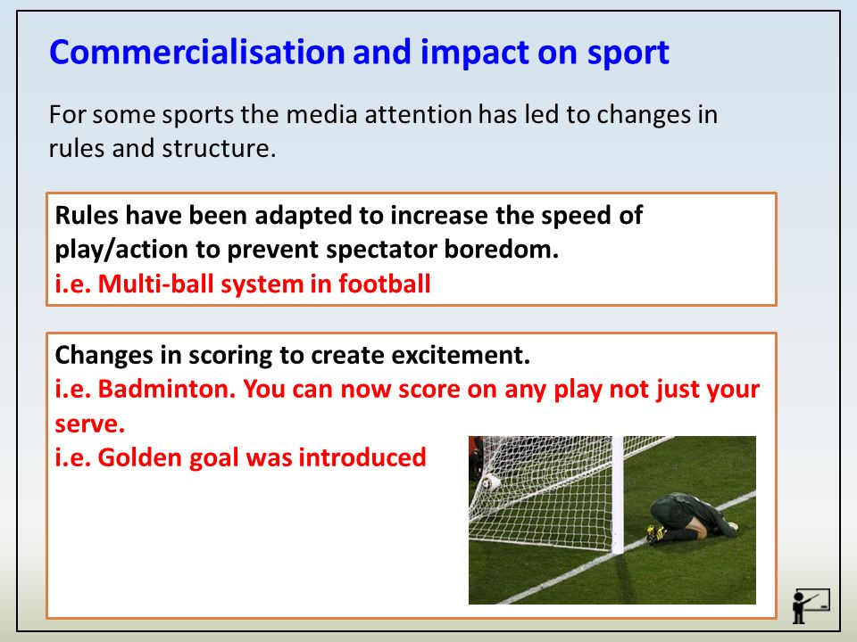 commercialization and media in sports Effect of commercialization on sporting events media essay print reference this published: on the level of professional sports, commercialization of sport is undoubtedly the most profitable commercialization and media in sports.