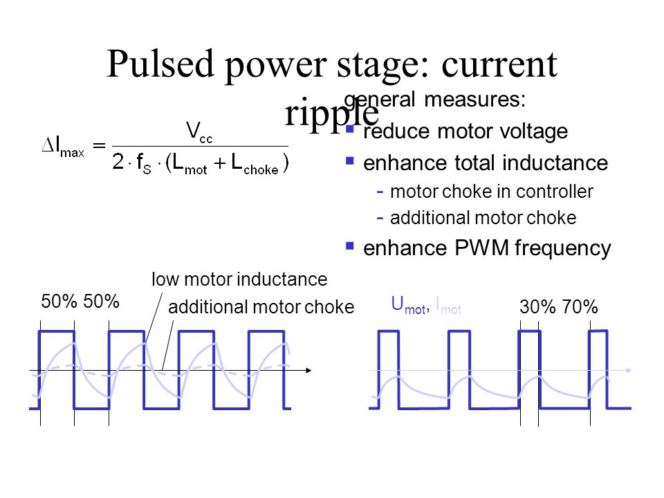Pulsed power stage: current ripple