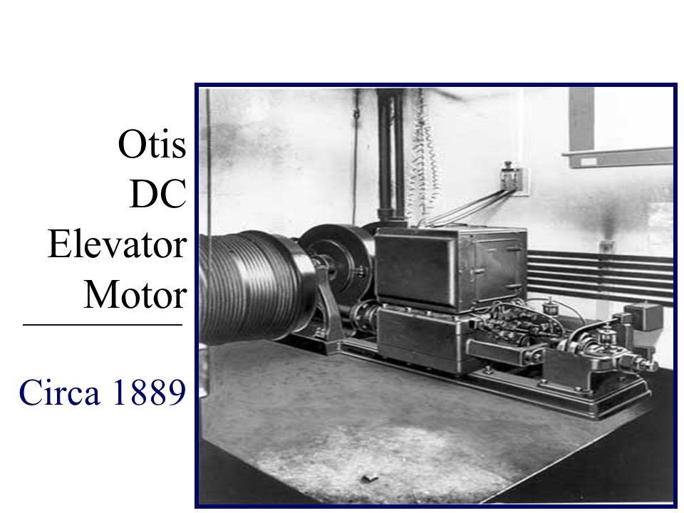 Otis DC Elevator Motor Circa 1889