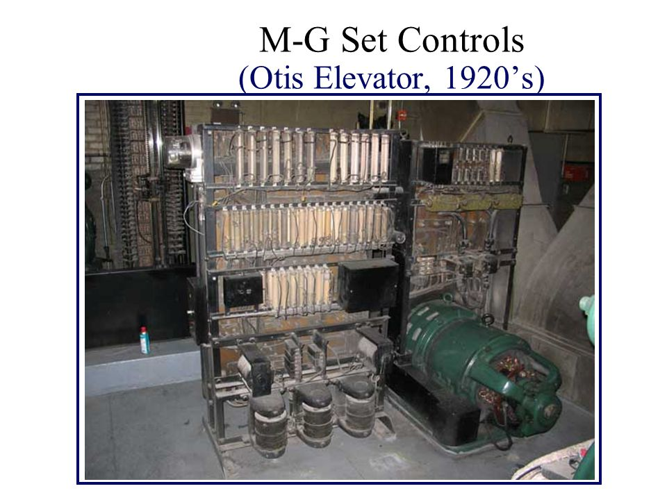 M-G Set Controls (Otis Elevator, 1920's)
