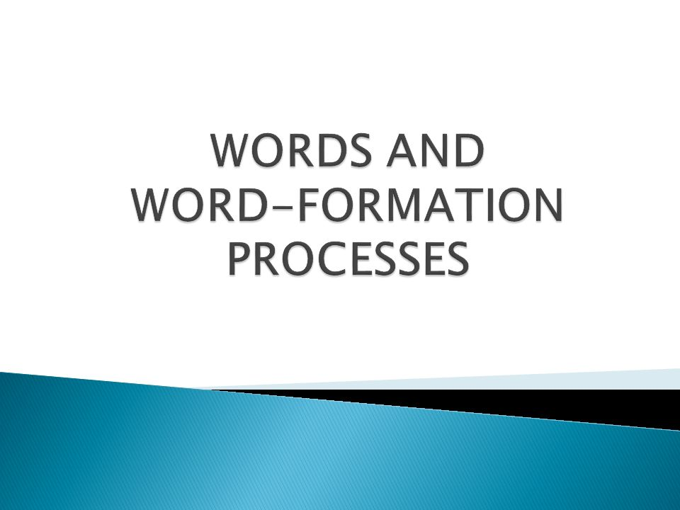 Types of Word Formation Processes