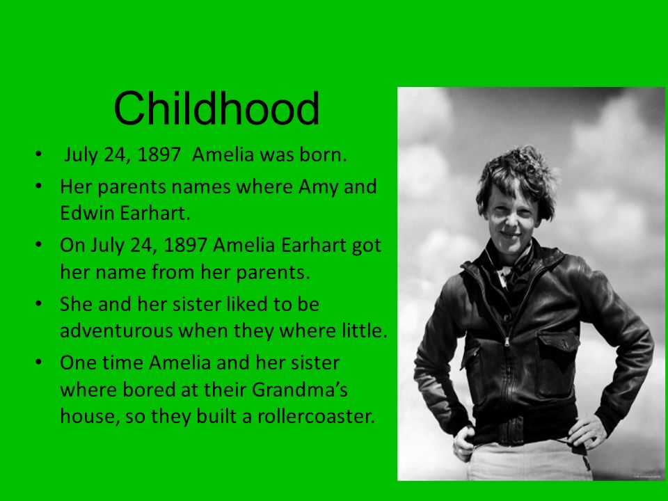Amelia Earhart By. - ppt download