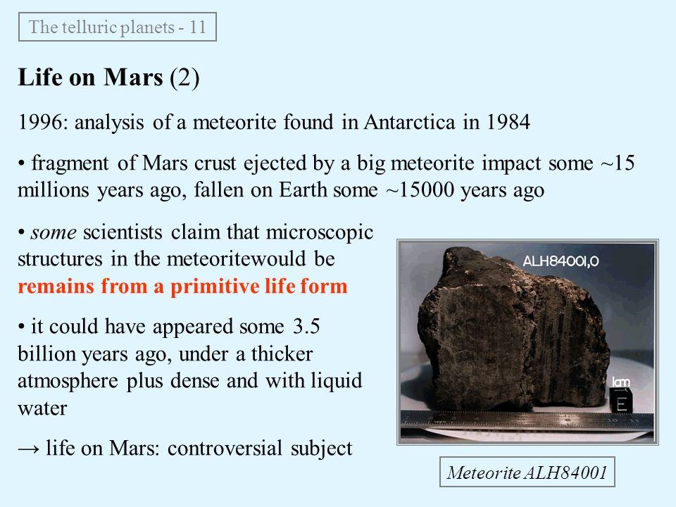 Life on Mars: Exploration & Evidence