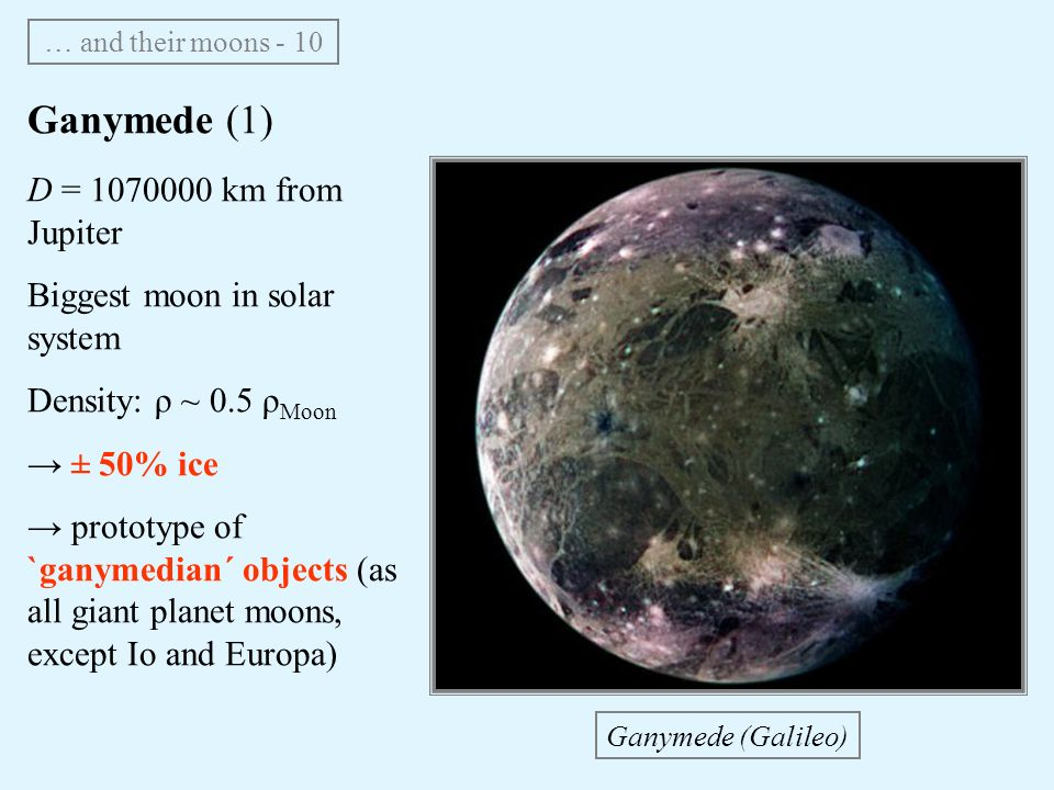 The solar system • Earth and Moon • Telluric planets ...
