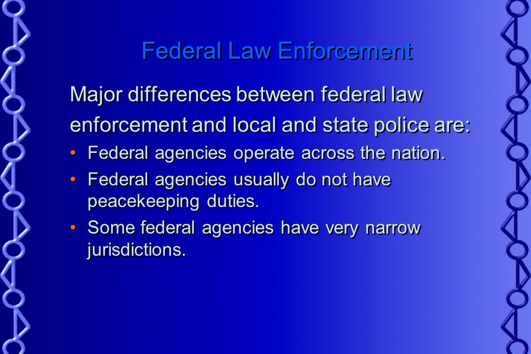 federal and local law enforcement Local interests, local knowledge  on direct state enforcement of federal civil law  which involve state enforcement of federal law pursuant to explicit.