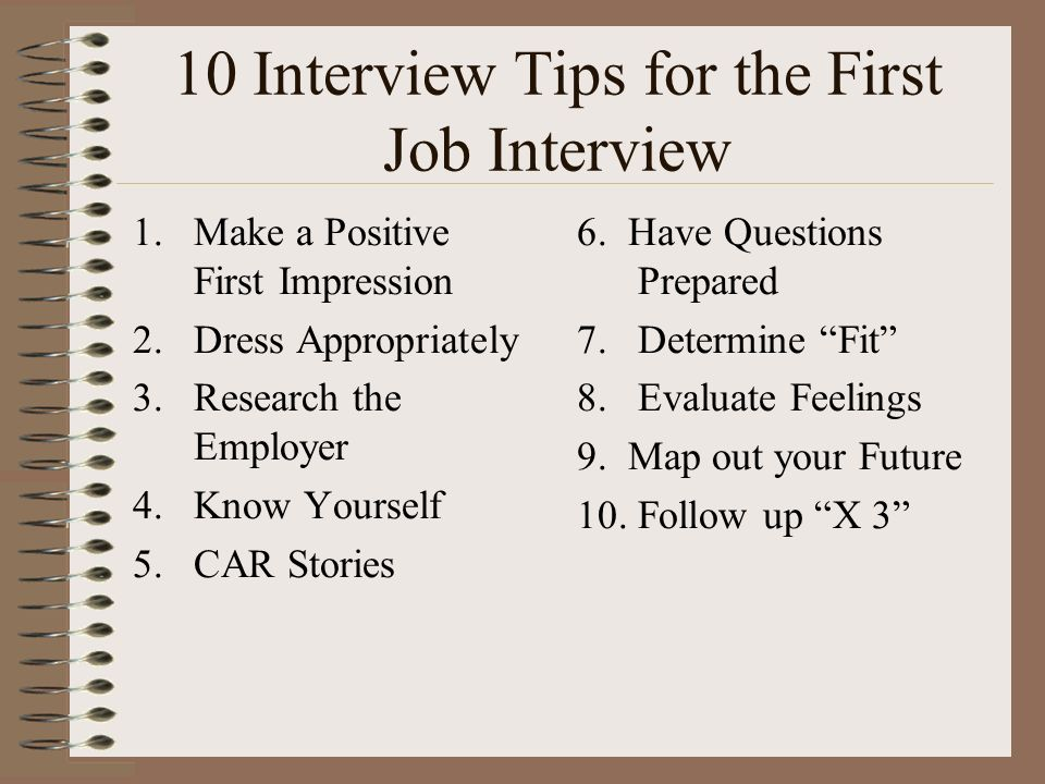 10 Interview Tips For The First Job Interview  Job Interview Tips