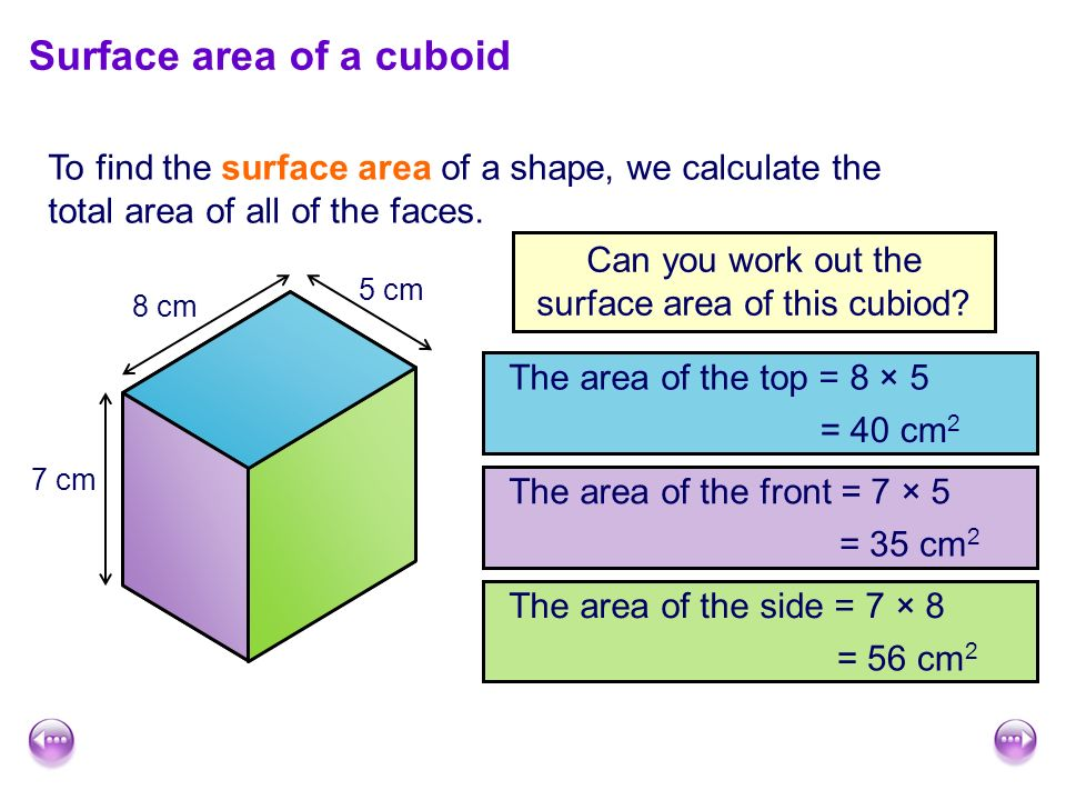 surface area of a prism cubes and cuboids ppt download. Black Bedroom Furniture Sets. Home Design Ideas