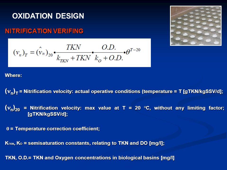 OXIDATION DESIGN NITRIFICATION VERIFING