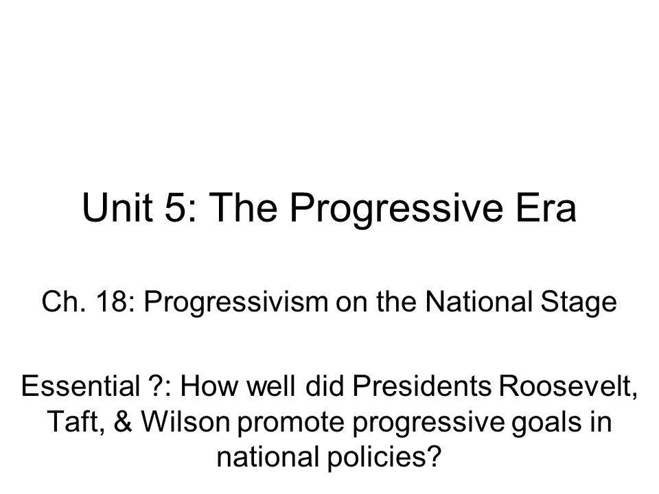 Unit 5 The Progressive Era ppt download – Progressive Era Worksheets