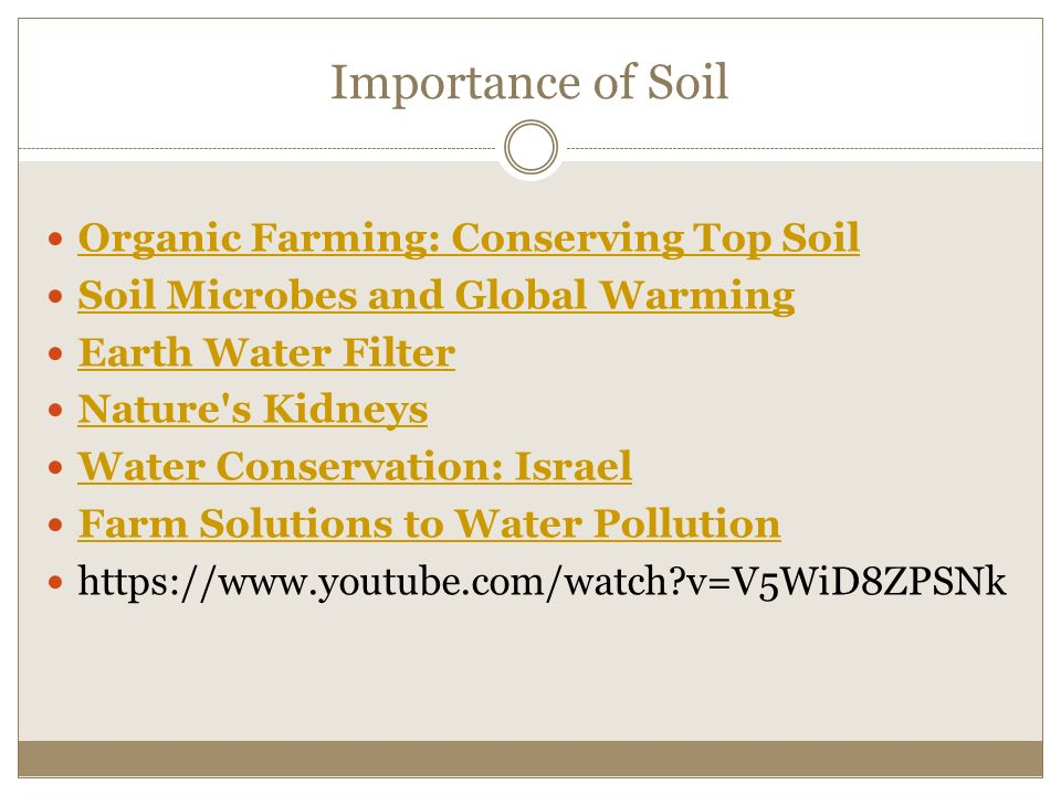 the importance of soil quality and conservation Journal of soil and water conservation systems for improved soil quality the study compared conservation practice of great importance in.