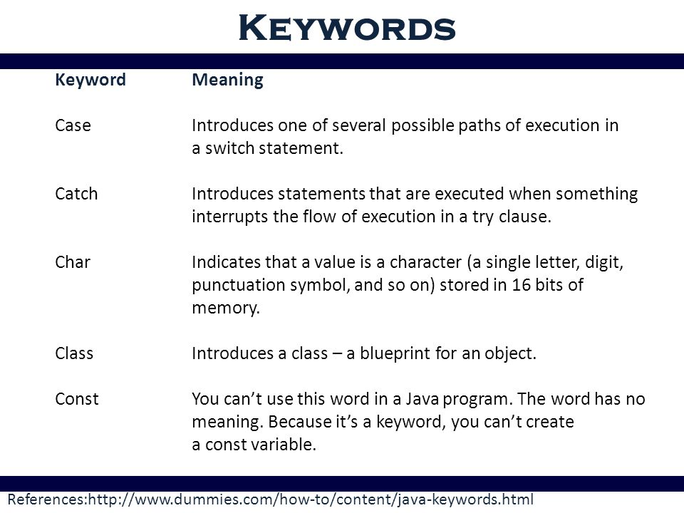 Java tokens token a java program contains numbers of classes ppt keywords keyword meaning malvernweather Choice Image