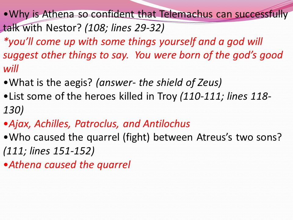relationship between athena and telemachus