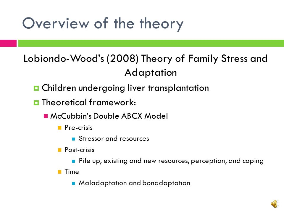 family crisis theory Most family stress models, leading hill to be called the father of family stress  theory (boss, 2002) the abcx formula focuses primarily on precrisis vari- ables  of.