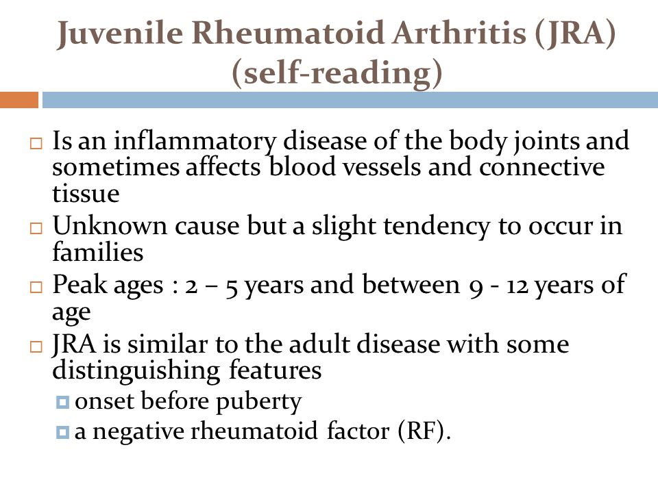 Adult arthritis juvenile onset rheumatoid