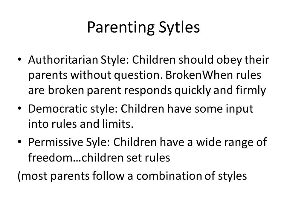 Parenting Sytles