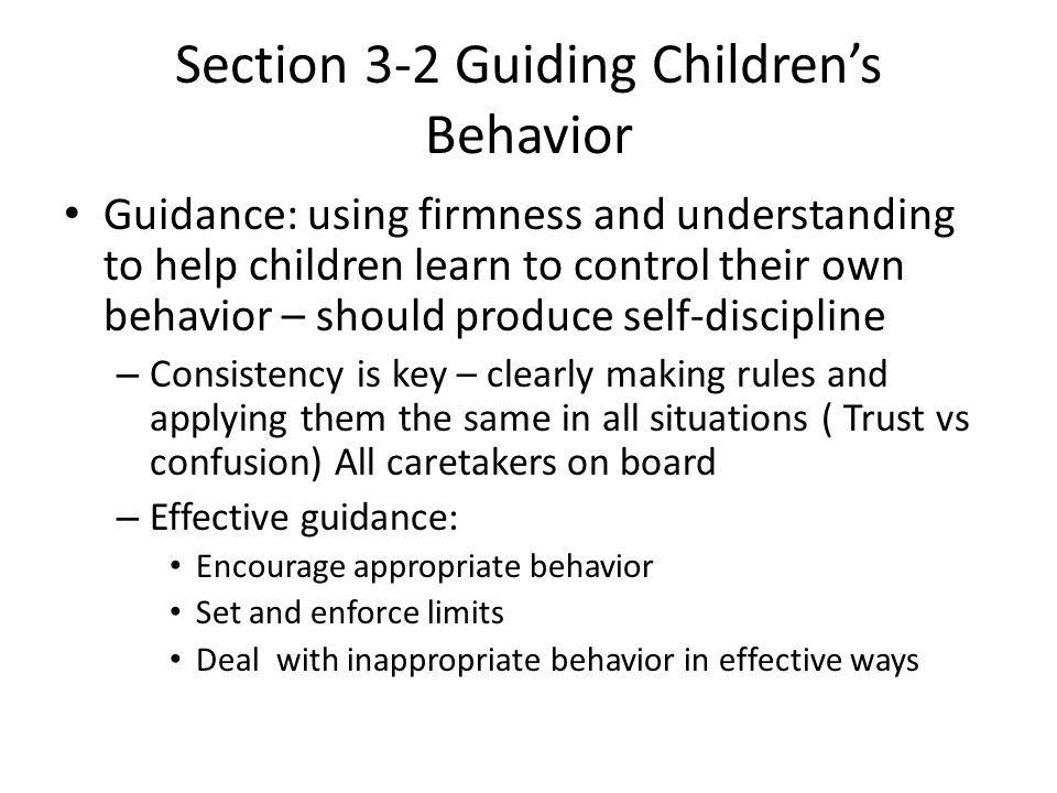 Section 3-2 Guiding Children's Behavior