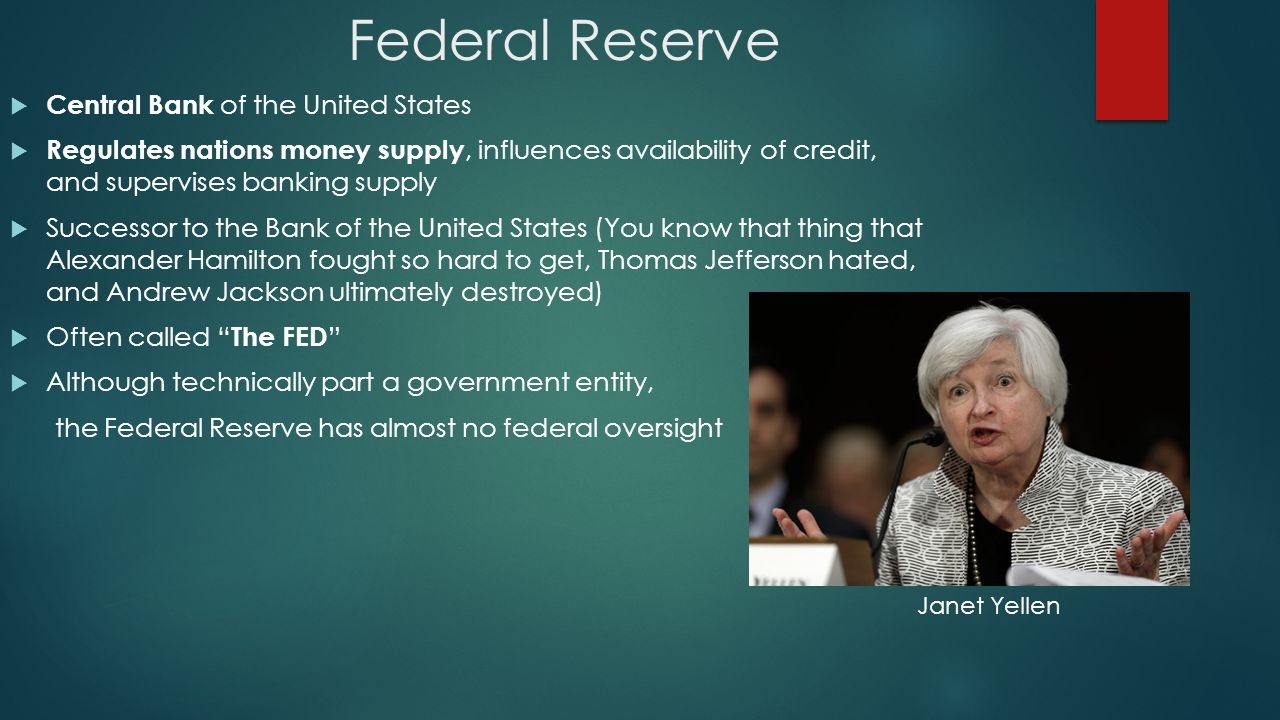 the federal reserve of the united The federal reserve bank (or simply the fed), is shrouded in a number of myths and mysteries these include its name, its ownership, its purported independence form external influences, and its.