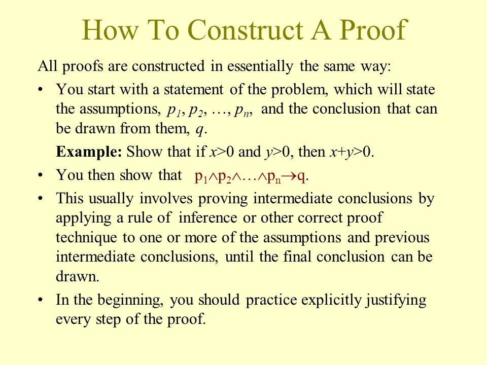 How To Construct A Proof