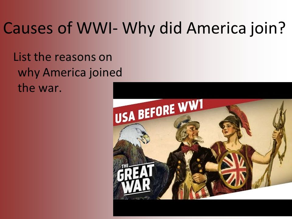 what made the us join ww1