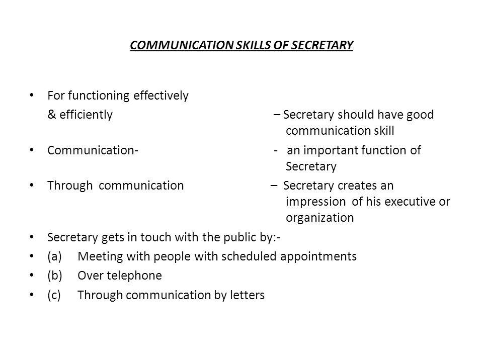 secretarial skills