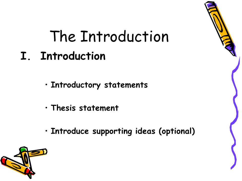 writing personal essays ppt the introduction i introduction introductory statements