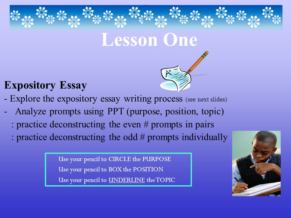 Lesson one expository essay ppt video online download