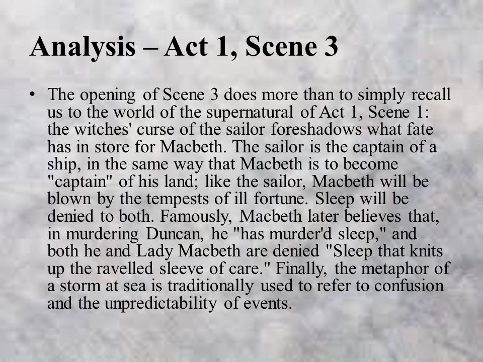 Macbeth: Act 1, Scene 1 – Summary & Analysis