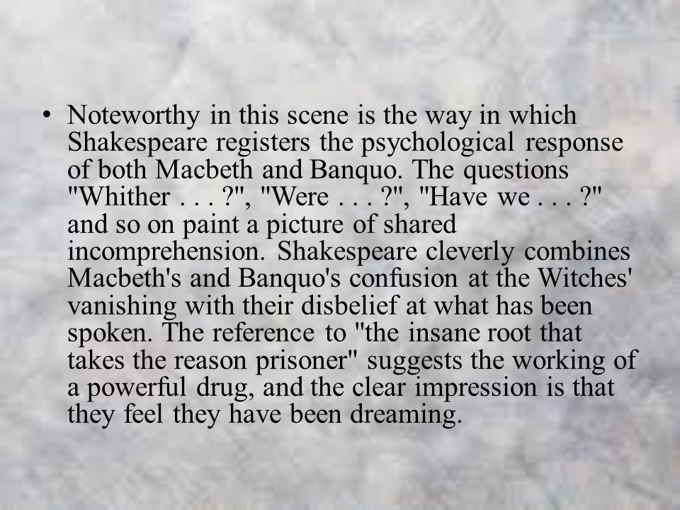 macbeth psychological analysis Macbeth: the psychological perspective humans are always thought to be evil  or  another interpretation of this line is that everything has two sides, or two.