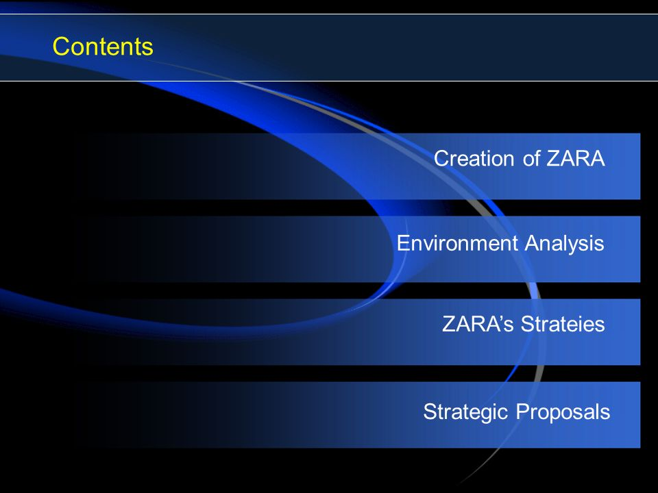 zara fast fashion ppt video online  contents creation of zara environment analysis zara s strateies