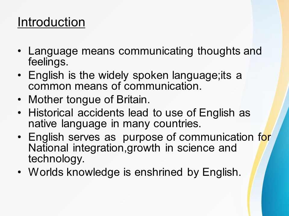 introduction english from a global language to The original suggestion for english as a global language, we are told,  for its mass introduction into educational systems around the world.