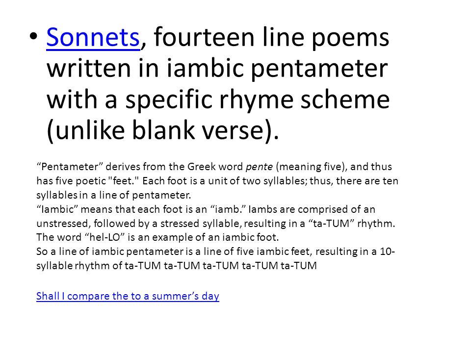 writing in iambic pentameter