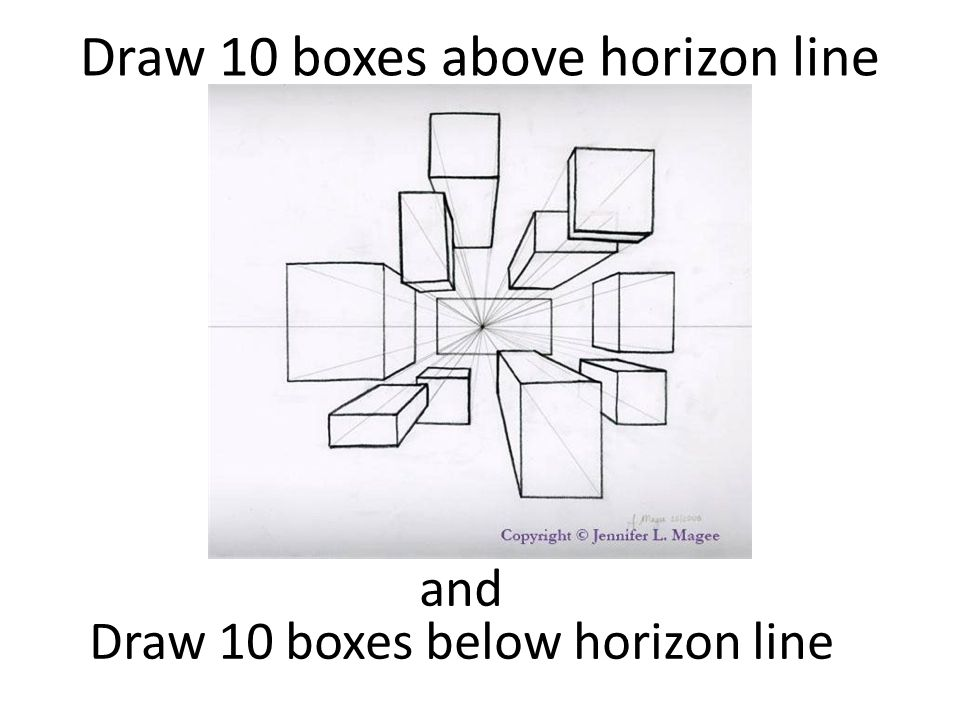 Drawing Using Horizon Lines : This week perspective projects ppt download