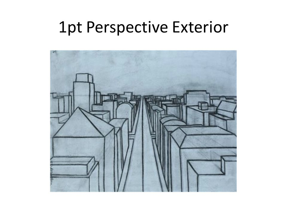 This week perspective 2 projects ppt download for Exterior 1 point perspective
