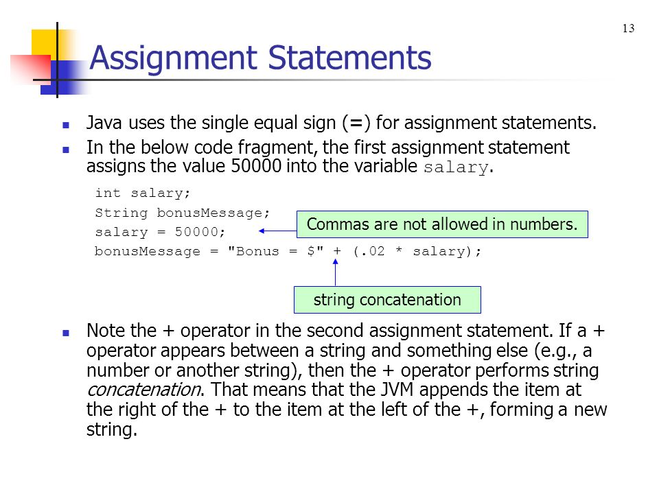 assigning string figures in java