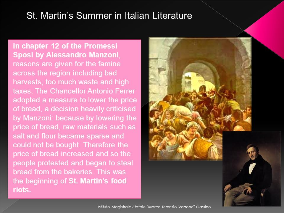 St. Martin's Summer in Italian Literature
