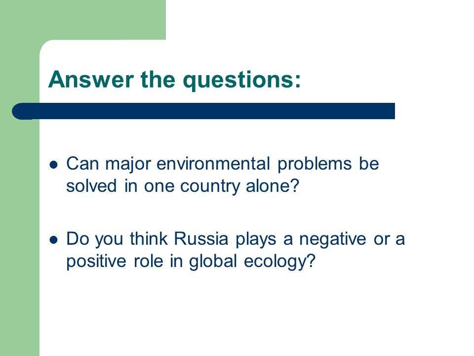 environmental problems should be solved at Environmental problems & solutions  the global issues website explains that the only way to control current environmental issues is to create sustainable .
