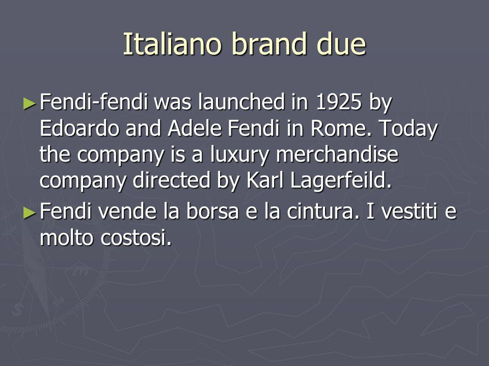 Italiano brand due